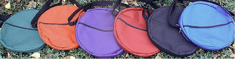 Drum bags are available in 4 sizes and 6 colors